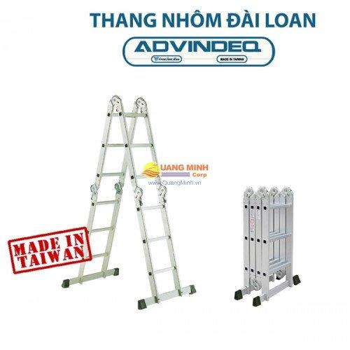 Thang nhôm đài loan gấp đa năng 4 đoạn khóa tự động Advindeq T6-165 ...