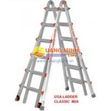 Thang nhôm rút Little Giant Classic M26