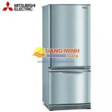 Tủ lạnh 2 cánh Mitsubishi 301L ngăn đá dưới màu bạc MR-BF36C-HS-V