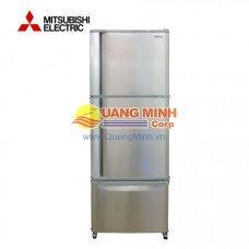 Tủ lạnh 2 cánh Mitsubishi 418L ngăn đá trên màu inox MR-V50C-ST-V