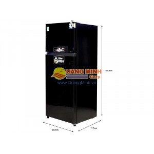 Tủ lạnh 2 cánh Toshiba Inverter 359L mặt gương đen GRTG41VPDZXK