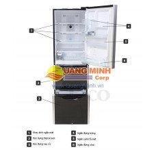 Tủ lạnh 3 cánh Hitachi 305L mặt gương màu đen SG31BPGGBK