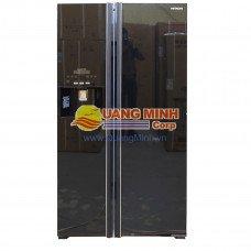 Tủ lạnh SBS Hitachi 589L màu đen thủy tinh R-S700GPGV2GBK